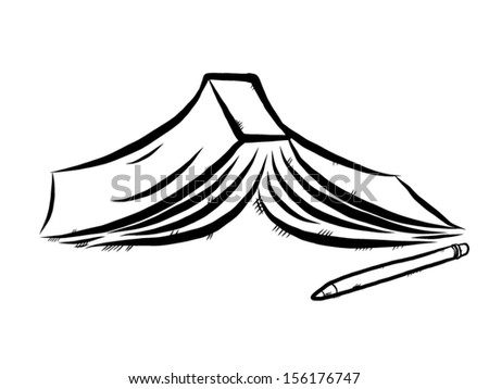 Line Art Illustration Style : Book pencil cartoon vector illustration hand stock 156176747