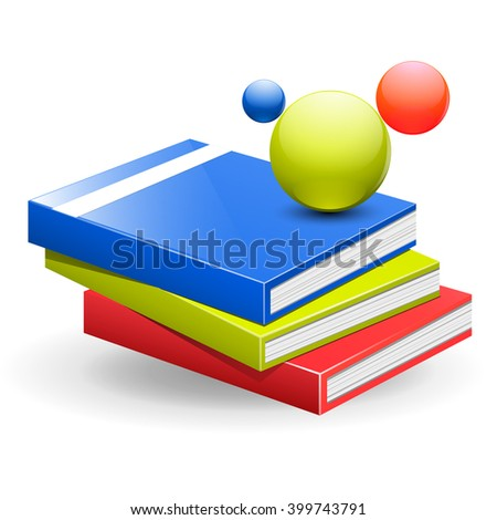 book and science illustration vector  - stock vector