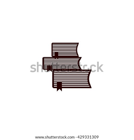 book, brochure, icon - stock vector