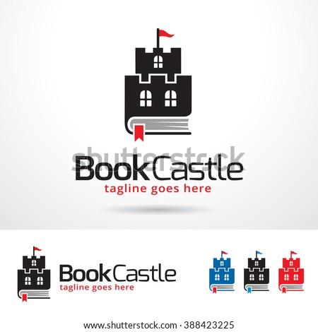 Book Castle Logo Template Design Vector - stock vector