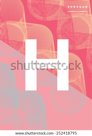 Book cover/Background design/Graphics/Layout/Content page/Futuristic abstract design - stock vector