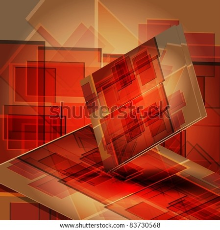 book cover design isolated over red background. - stock vector