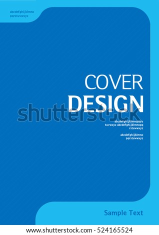 Book cover design vector template a4 stock vector for For dummies template book cover