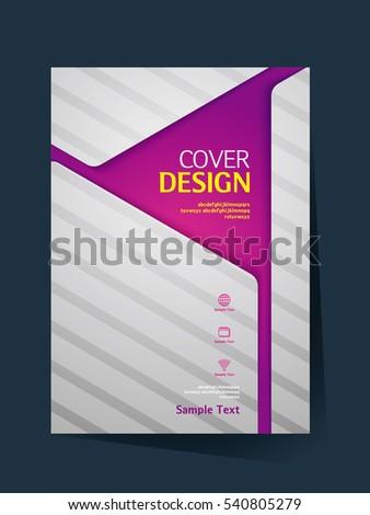 book cover design vector template a4 stock vector 540805279 shutterstock. Black Bedroom Furniture Sets. Home Design Ideas