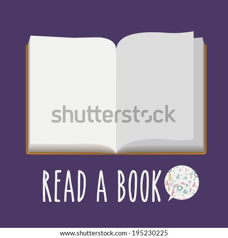 Book  design over purple background, vector illustration