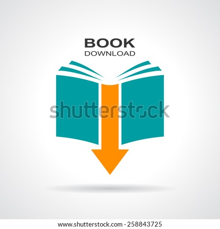 Book download icon - stock vector