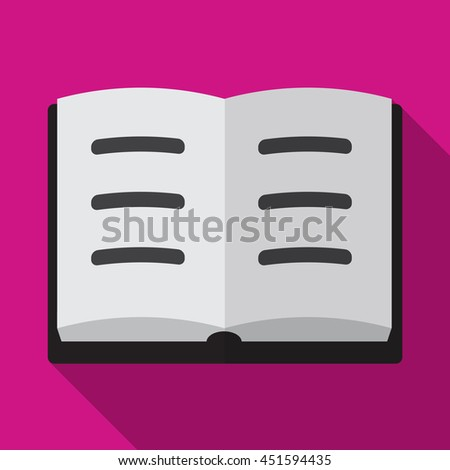 Book flat icon illustration isolated vector sign symbol