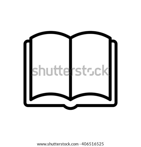 Book fully scalable vector icon in outline style. - stock vector