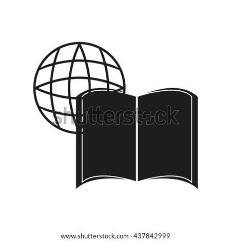 book globe, vector illustration