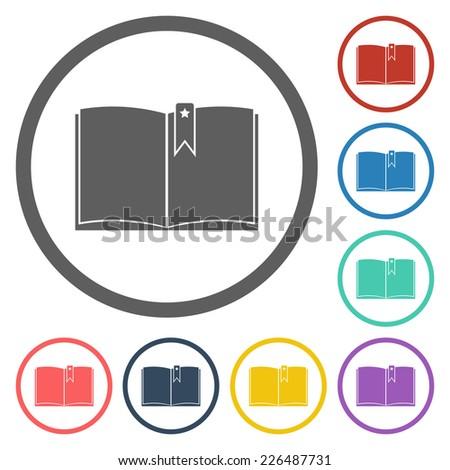 book icon - stock vector