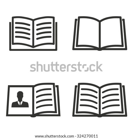 Book icon. - stock vector