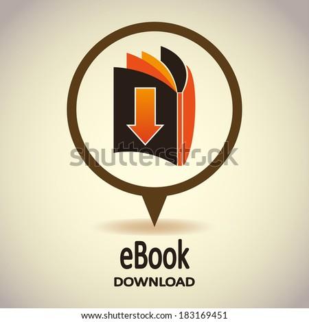 Book icon. Ebook. (E-book). Vector Illustration - stock vector