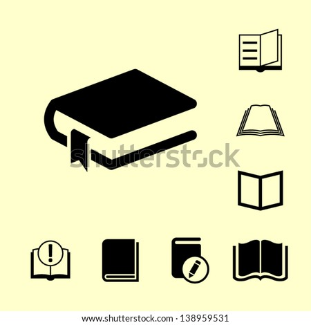 Book icon for web. - stock vector