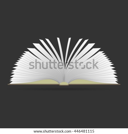 Book icon icon. Outline style. Vector illustration.