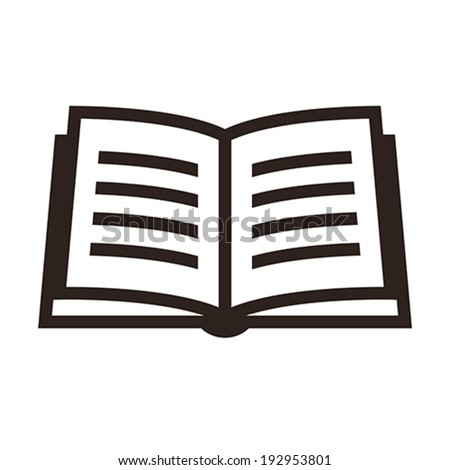 Book icon isolated on white background - stock vector