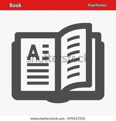 Book Icon. Professional, pixel perfect icons optimized for both large and small resolutions. EPS 8 format. - stock vector