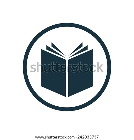 book icon round shape isolated on stock vector 242033737 shutterstock