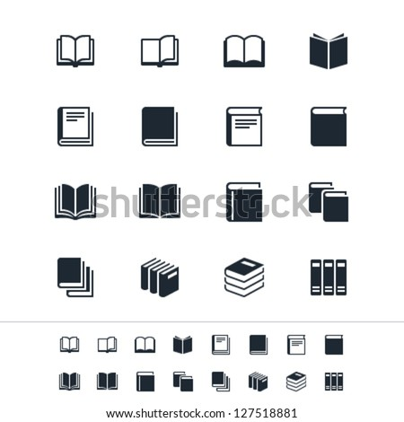 book icons stock vector 127518881 shutterstock rh shutterstock com open book vector icon free book vector icon free