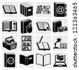 Book Icons. Basics Series. Vector - stock vector
