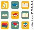 Book icons. Book icons art. Book icons web. Book icons new. Book icons www. Book icons app. Book icons set. Book set. Book set art. Book set web. Book set new. Book set www. Book set app. Book set big - stock photo