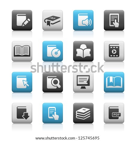 Book Icons // Matte Series - stock vector