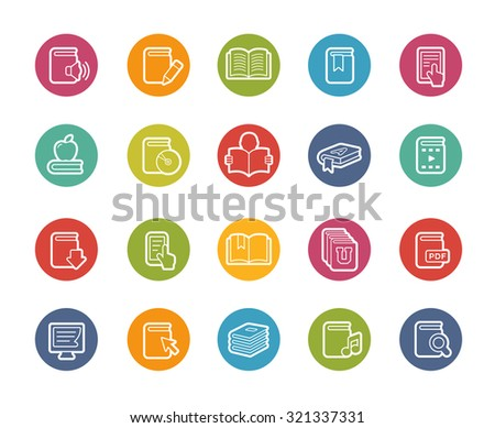 Book Icons // Printemps Series - stock vector