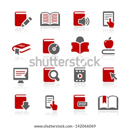 Book Icons // Redico Series - stock vector