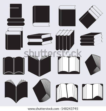 Book Icons / Vector icons / Basic Series