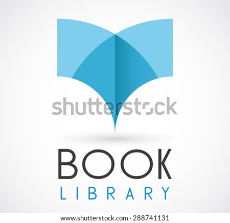Book library 3D read logo element education vector design symbol shape icon template business store or shop company - stock vector