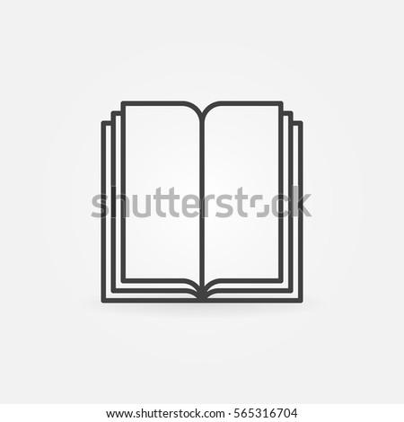Book linear symbol icon library concept stock vector 565316704 book linear symbol or icon library concept vector sign or logo ccuart Choice Image