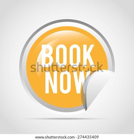 book now button design, vector illustration eps10 graphic  - stock vector