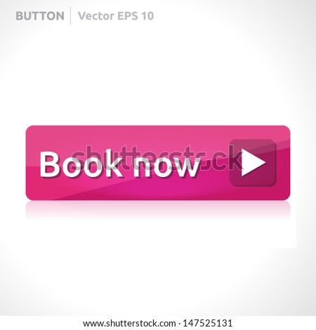 Book now button template | vector design eps | business banner with symbol icon | website element | web pink - stock vector