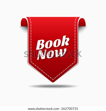 Book Now Red Vector Icon Design