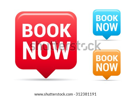 Book Now Tags - stock vector