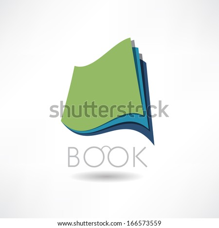 Book of Knowledge abstract icon - stock vector