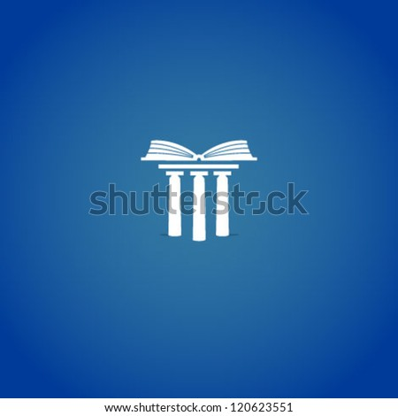 Book on columns - stock vector