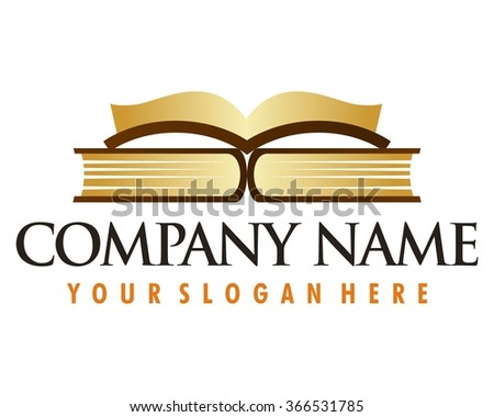 book open vector logo