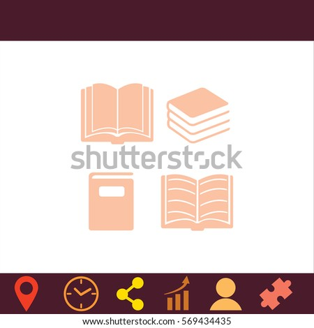 Book set  icon. Vector design.