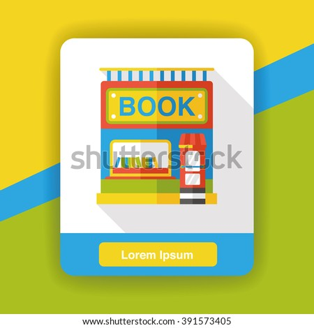 book shop store flat icon