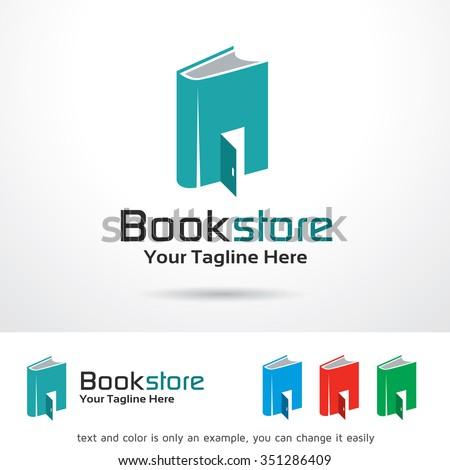 Book Store Logo Template Design Vector - stock vector