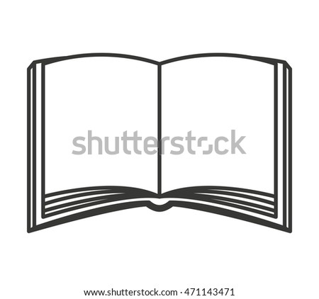 book text school icon vector isolated graphic