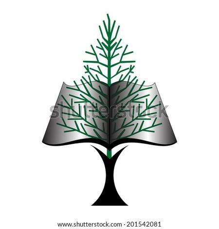 book tree icon - stock vector