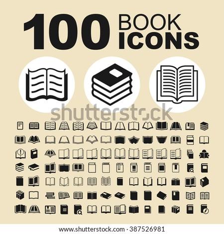 Book vector icons. Book pictogram. Book sign. Book vector object. Book graphic. - stock vector