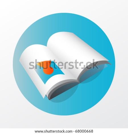 book web icon - stock vector