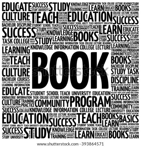 BOOK word cloud, education concept background