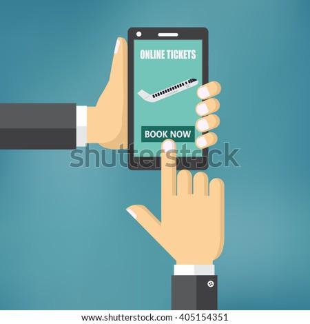 Booking online flights  travel or ticket vector illustration. - stock vector
