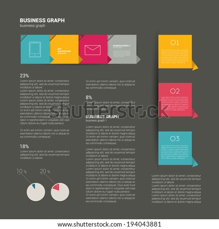 Booklet design. Magazine layout. Infographics  template. - stock vector