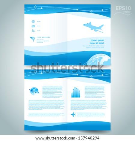 Booklet Design Template Catalog Brochure Folder Stock Vector - Brochure folder template