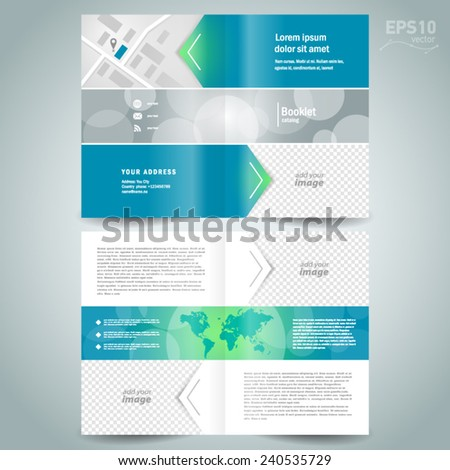 Stock Images Similar To Id 157940294 - Booklet Design Template