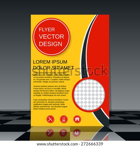Booklet vector template. Flyer, brochure cover, banner, poster abstract design. - stock vector